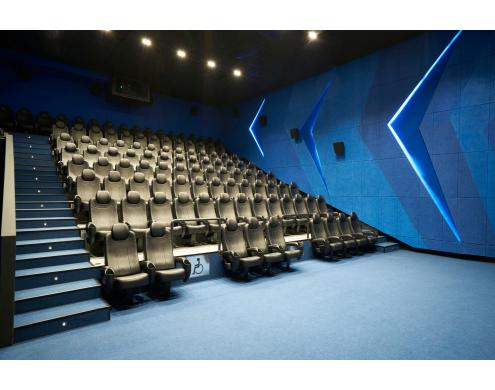 Acoustic treatment of the auditoriums in Kinopark16 movie theater