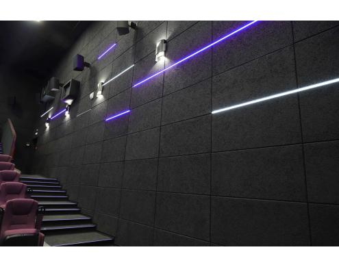 Acoustic treatment of the auditoriums in Rossiya movie theater